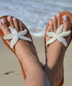 04a5d557a STARFISH BEADED SANDALS WHITE - Beach and Beyond