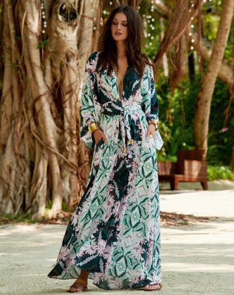 94b4eaf880192b Erin Maxi Kimono Style Dress - Beach and Beyond
